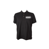 Polo Shirt schwarz, Security reflektierend