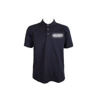 Polo Shirt blau, Security reflektierend