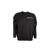 Sweat Shirt schwarz, Security weiß