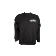 Sweat Shirt schwarz, Security reflektierend
