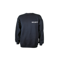 Sweat Shirt blau, Security weiß