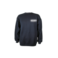 Sweat Shirt blau, Security reflektierend